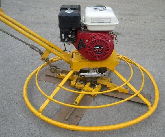 Máy xoa nền bê tông sử dụng động cơ Honda GX160